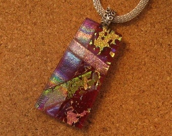 Dichroic Pendant - Dichroic Jewelry - Fused Glass Pendant - Fused Glass Jewelry - Dichroic Necklace