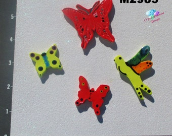 Butterflies- & Dragonflies Kiln Fired Handmade Ceramic Mosaic Tiles for you Mosaic Projects M2985