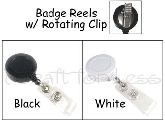 1 Badge Reel - Retractable with Vinyl Strap and Rotating Clip - SEE COUPON