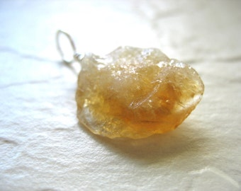 Citrine Pendant, Citrine Pendant Necklace, Artisan Yellow Citrine Stone Jewelry, Gemstone Jewelry, Citrine, Citrine Necklace