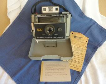 Vintage 1970s Polaroid 420 Automatic Vintage Land Camera Untested