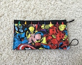 Crayon Roll-  8 party favor package, Marvel
