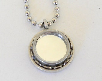 CIJ SALE Typewriter Key Necklace/Pendant Mirror Mirror