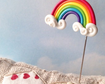 Rainbow and Cloud Pin Topper