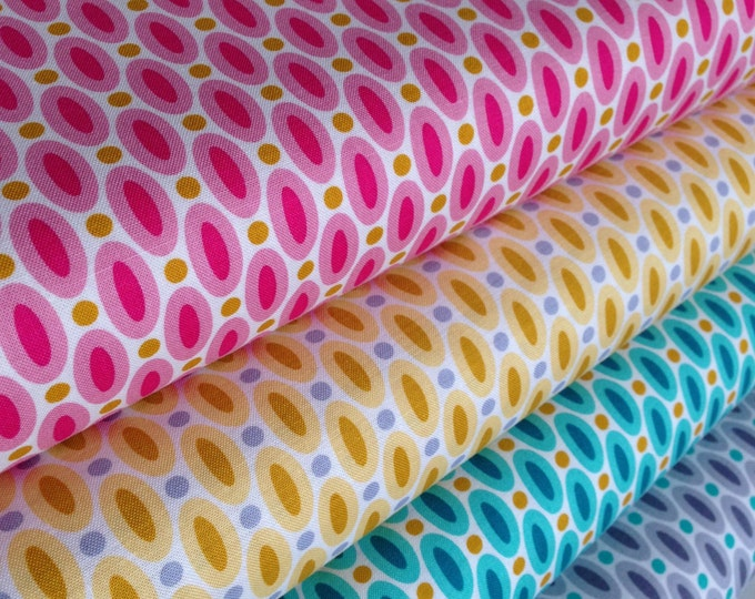 Spring fabric, Bright fabric, Girl Fabric, True Colors by Joel Dewberry, Quilt fabric, Wedding Fabric, Abacus, Polka Dot, Fabric Bundle of 4