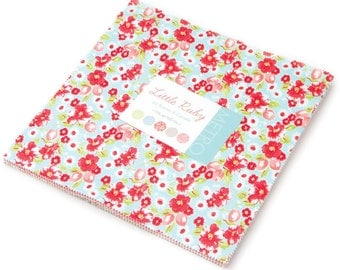 "Little Ruby Moda Layer Cake, 42 - 10"" precut fabric quilt squares by Bonnie & Camille"