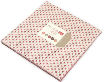 """Petite Prints Deux Moda Layer Cake, 42 - 10"""" precut fabric quilt squares by French General"""