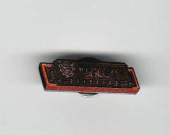 Enameled Hohner Harmonica Marine Band Pin