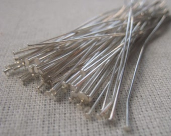 Silver Plated Headpin 24 Gauge 2 Inch Headpin Item No. 8770