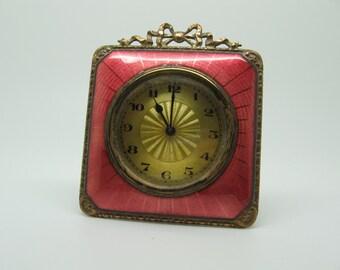Vintage Mayer Enamel Easel Clock