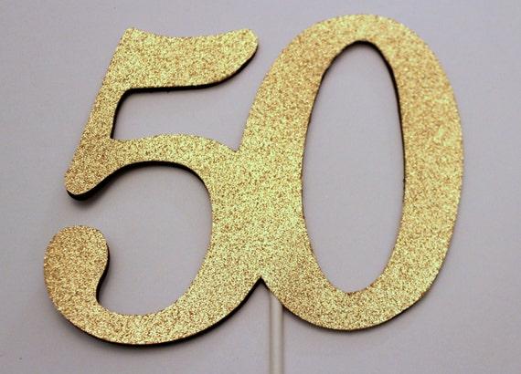 50th Birthday Cake topper - 50 Cake topper - 50th Birthday decoration ...
