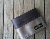 Wallet with change pocket - Seatbelt Wallet - Father's Day Gift - Recycled Wallet