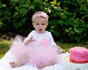 First Birthday Outfit Girl - Baby Girl 1st Birthday Dress - Baby Girl Clothes - Tutu Outfit - Cake Smash Outfit Girl