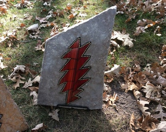 Grateful Dead Stained Glass Bolt