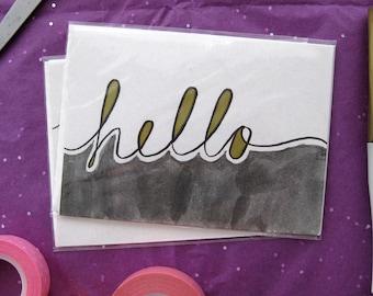 Hello - Handmade Greeting Card