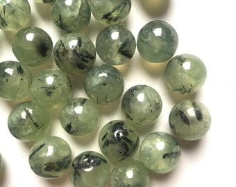 Prehnite 12mm Round Beads