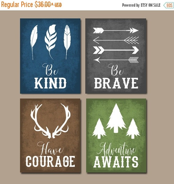 Sayings Wall Art Canvas : Woodland quote wall art canvas or print boy nursery by