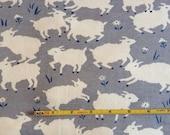 "NEW Birch Little Lamb Fog Organic Cotton Interlock 44"" wide per yard"