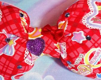 Sailor Moon puffy hair bow, anime sweet lolita magical girl sparkle barrette hair clip