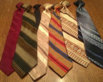 7 Vintage Clip-on Ties