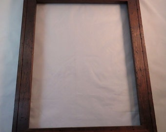 11x14  Wormy light Curly Maple with Brown Dye Picture Frame - Made in Maine - Real Wood Frame