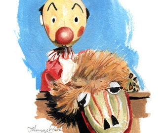 Kukla & Ollie  (Fine Art Print not the real Puppets )