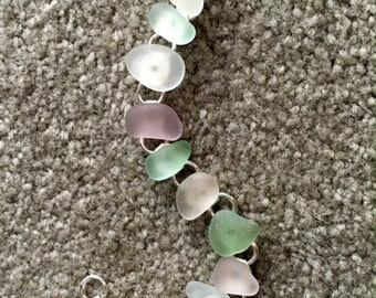 Sea Glass Bracelet-Gift Idea-Summer Jewelry-Beach Jewelry-Valentine Gift Idea - Mother's Day Gift - Mother - Mom