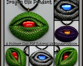 Dragon Eye Pendant,  A Polymer Clay PDF Tutorial, DIY Jewelry