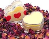 Heart Shaped Honey Lip Balm - Lip Balm, Lip Gloss, Valentine, Heart, Lip Balm Pot, Dry Lip, Lip Moisturizer, Natural Lip Balm