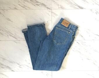 Vintage lee jeans / light wash jeans / 28 waist / Straight leg jeans