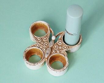 Vintage Florenza Lipstick Holder 1960s Butterfly Vanity Mod Enamel
