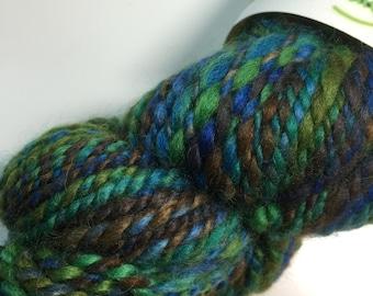 1 Skein Hand Spun Art Yarn Swamp Thing