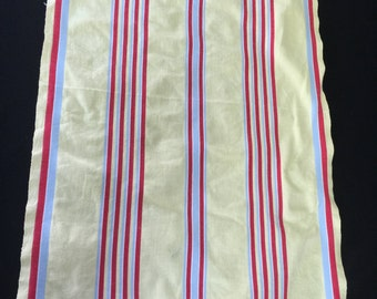 Vintage Yellow with Blue and Red Stripes Cannon Kitchen Towel