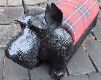Scottish Terrier Footstool