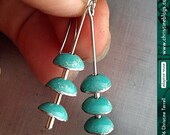 Turquoise Zen Chimes -- Upcycled Tin Earrings--You Choose the Color