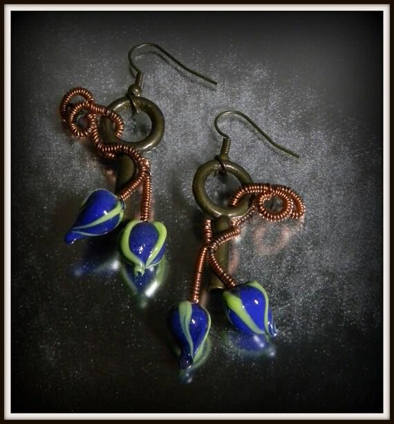 Wirewrapped Key Earrings