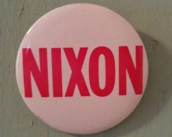 Vintage 1968 Nixon campaign button 4 inches diameter Richard Nixon Republican President GOP Presidential Election Political Politics