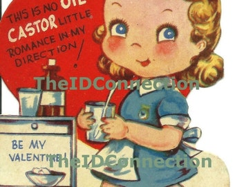 Valentines Day Sale Vintage Valentine Digital Download, Nurse, This is no Castor Little Romance in my direction! Be My Valentine