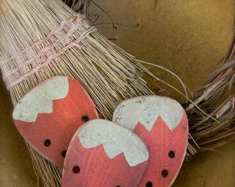 Sweet Strawberry Thread Winder- Floss Holder - from Notforgotten Farm™