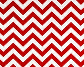LIPSTICK RED CHEVRON Premier Prints Fabric by the Yard. Cotton Home Decor. More than 1 yard Available. Ready to Ship. Sewing Crafting Fabric