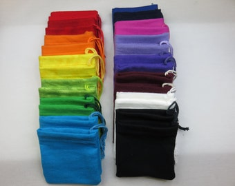 Set of 30 Mixed Colors Multi Pack Solid Cotton Flannel Hoo Doo Baggies
