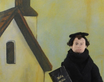Martin Luther Doll Miniature Historical Art Collectible Men in History