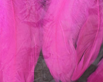 FEATHERS - CERICE - fuschia - goose feather fluff - large coquille - 1 bag - Aleene's - Craftmaker