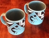 Vintage Waechtersbach Coffee Mugs