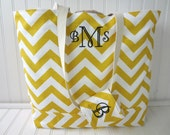 Chevron Beach Bag - Personalized Beach Bag - Monogram Beach Bag - Waterproof Lining - Pool Bag