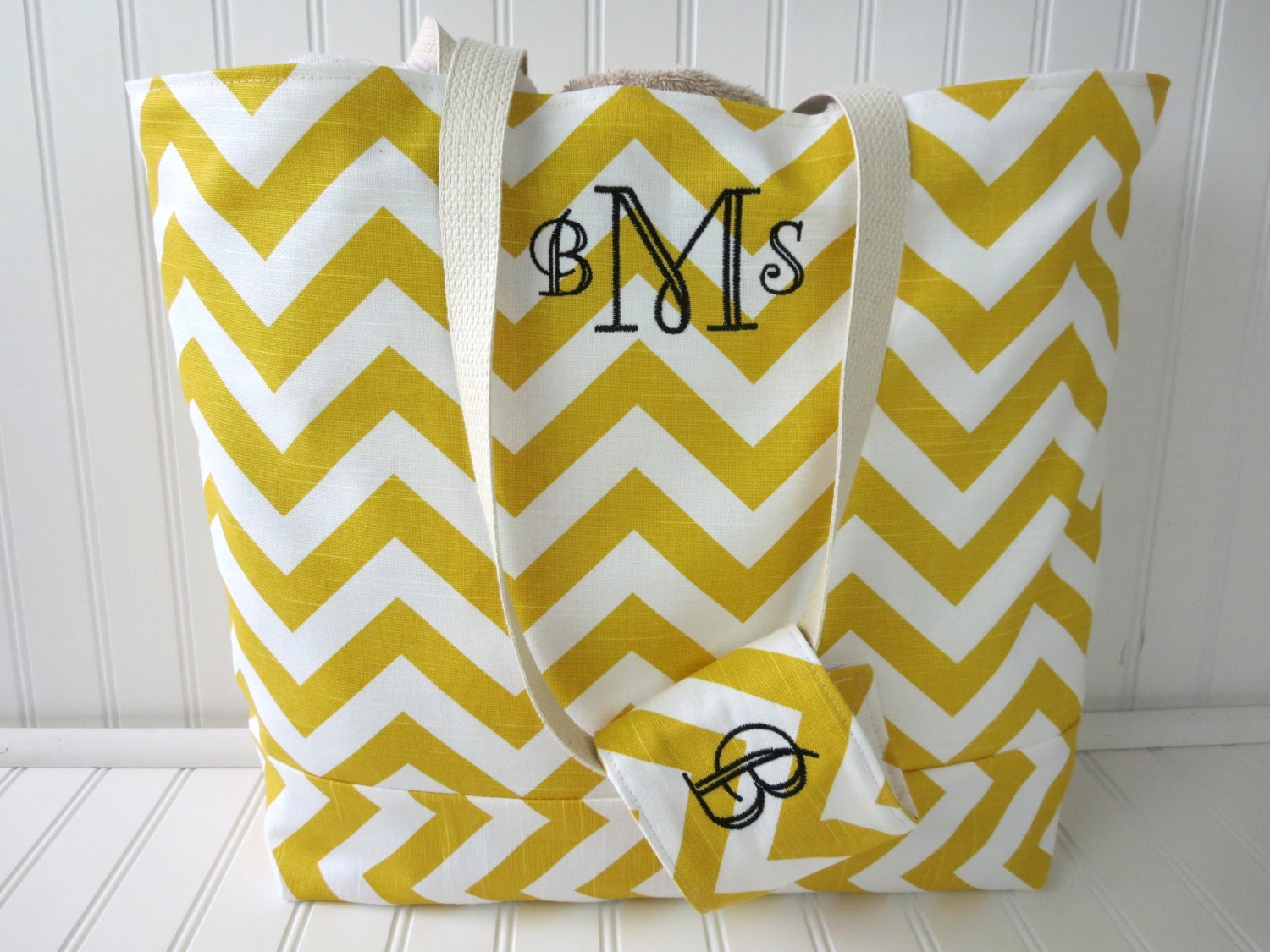 Chevron Beach Bag Personalized Beach Bag Monogram Beach
