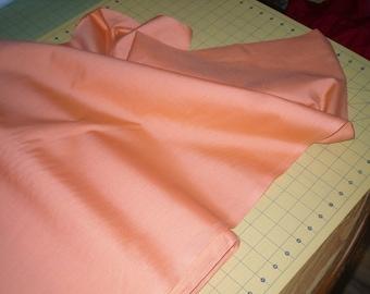 Poly Cotton Fabric Tigerlily .... peachy orange color