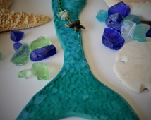Custom Order for Donna Teal Mermaid Tail Wall Art