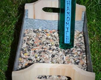 Chamomile Herb Garden Stake, Gardener, Gift Plant Stake, Garden Stake
