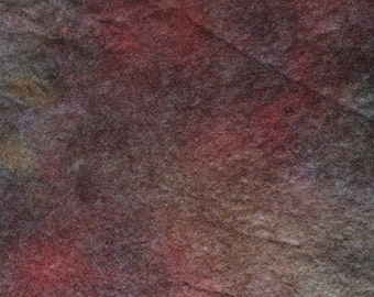 Hand dyed felt, Walnut, Rust, etc, only one available